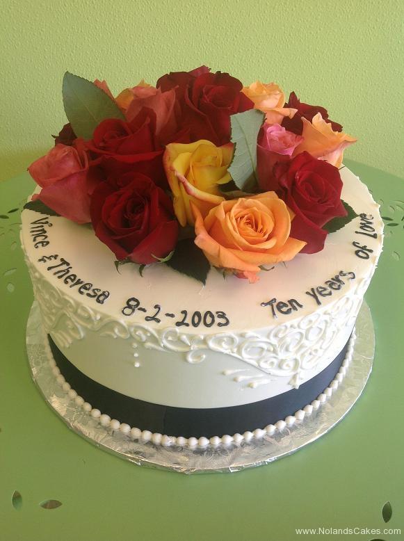 2471, fresh flowers, roses, red, yellow, orange, pink, tenth anniversary, white, 10th,