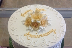 2517, gold, fifty, fiftieth, 50, 50th, white, simple, elegant, roses,