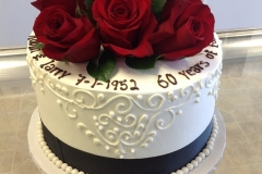 2524, roses, fresh flowers, red roses, red, white, black, 60, sixtieth,