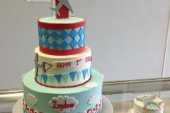 114, airplane, blue, red, 1st birthday, first birthday, tiered, birthday