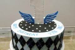 116, 1st birthday, first birthday, blue, argyle, wings, birthday, black