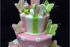 120, 1st birthday, first birthday, pastel, butterfly, pink, green, tiered, birthday