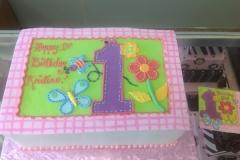132, 1st birthday, first birthday, birthday, flower, flowers, butterfly, pastel, pink, purple, green, blue, bee, ladybug