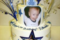 151, 1st birthday, first birthday, birthday, blue, gold, edible image, stars, star, tiered