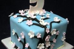 152, 5th birthday, fifth birthday, blue, flowers, tree, flower, trees, cherry blossom,