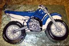 1819, birthday, dirt bike, motorcycle, off road, blue, white, black, carved