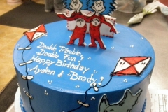 1869, second birthday, 2nd birthday, dr seuss, seuss, thing one and thing two, thing 1 and thing 2, kite, kites, horton hears a who, blue, red, white