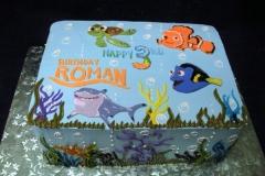 1909, third birthday, 3rd birthday, finding nemo, bruce, dory, nemo, marlin, crush, squirt, water, underwater, ocean, sea, shark, fish, blue