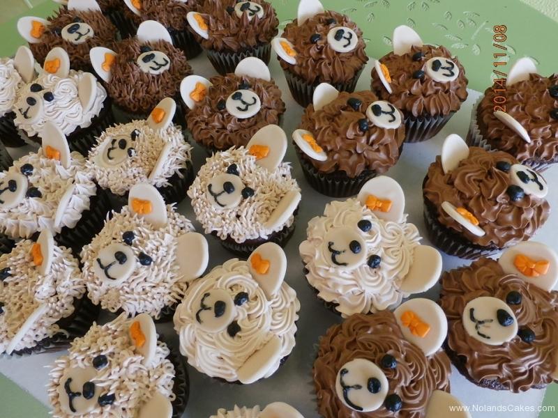 533, bears, sheep, cute, animals, brown, forest, white, orange, bow, kids, children