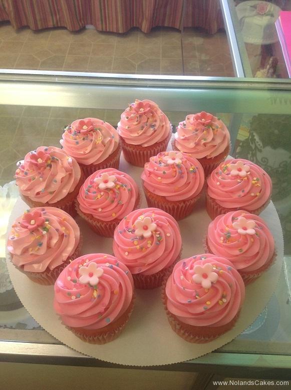 587, pink, flowers, sprinkles, girl