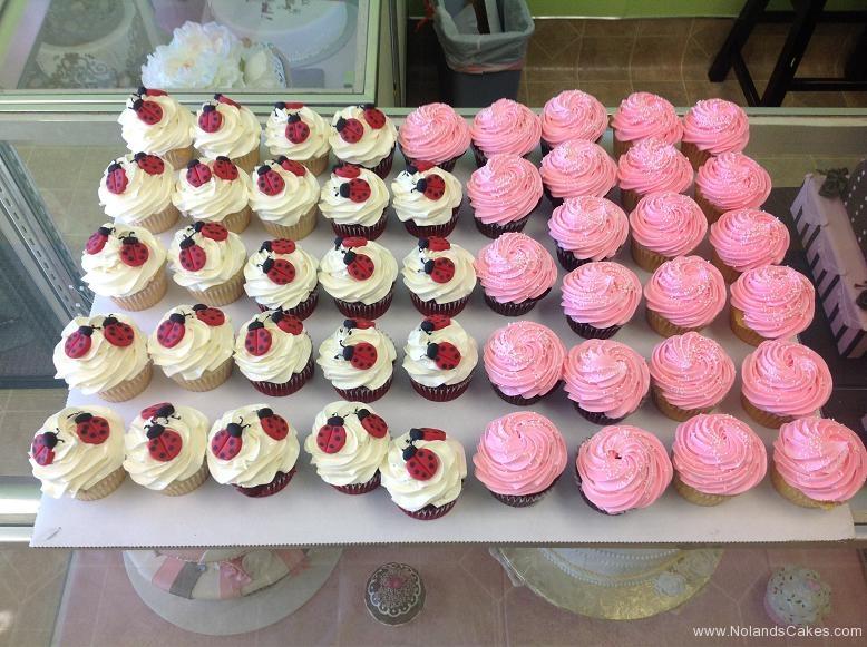699, pink, red, white, ladybugs