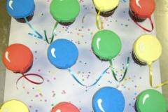 501, balloons, red, blue, yellow, green, ribbon, simple, balloon