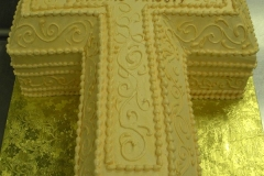 582, cross, carved, gold, piping, swirls, elegant