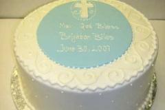 616, blue, boy, baby boy, first communion, white, communion, cross, simple