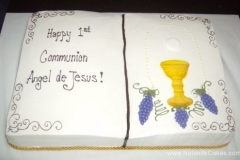 649, carved, book, bible, cup, chalice, grapes, communion, first communion, gold, white, purple