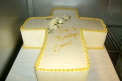 668, carved, cross, white, gold, yellow, roses, flowers, communion, first communion