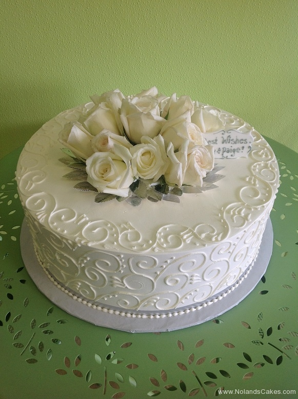 2481, piping, white, roses, fresh flowers, topper