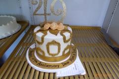 3331, anniversary, 49th, 49, gold, white, pink
