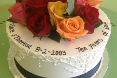 2471, fresh flowers, roses, red, yellow, orange, pink, tenth anniversary, white, 10th,