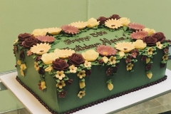 3102, 50th birthday, fiftieth birthday, flower, flowers, green, yellow, pink, red, burgundy, dark