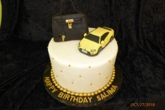 3254, birthday, car, purse, ferarri, coach, yellow, white, black, gold