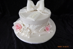 3115, birthday, box, present, bow, bows, pearl, pearls, flower, flowers, white, pink,