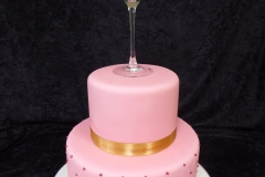 3383, birthday, wine, champagne, pink, figure, glass, gold, bottle, tiered