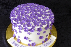 3395, 50th birthday, fiftieth birthday, flower, flowers, white, purple