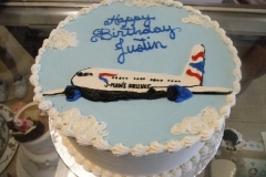 281, birthday, plane, airplane, flying, blue, white