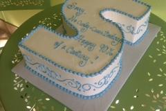 536, 90th birthday, ninetieth birthday, white, blue, carved