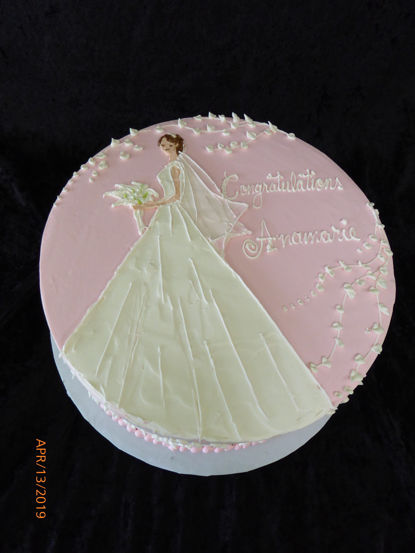 3257, bridal shower, pink, white, dress, flower, flowers