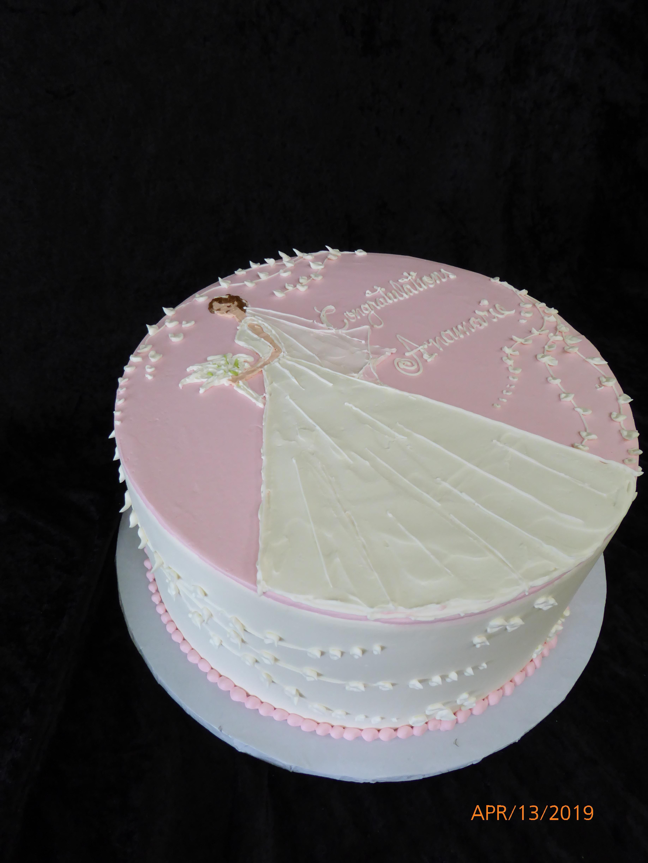 3258, bridal shower, pink, white, dress, flower, flowers