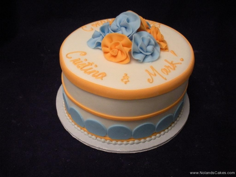 370, orange, blue, flowers, white, bridal shower
