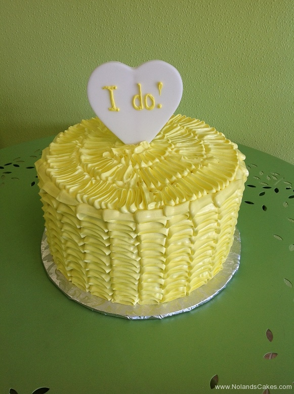 427, yellow, heart, topper, ruffles, i do, engagement