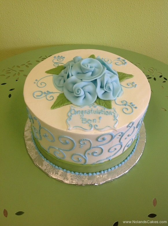 433, blue, pink, light pink, swirls, roses, flowers, piping