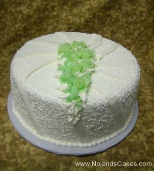 2303, bridal shower, white, green, swirl, swirls, flower, flowers