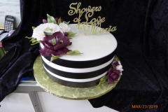 3124, bridal shower, flower, flowers, purple, white, gold, stripe, black