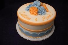 370, orange, blue, flowers, white, bridal shower