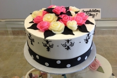 2470, bridal shower, flower, flowers, rose, roses, pink, yellow, white, black, dot, dots