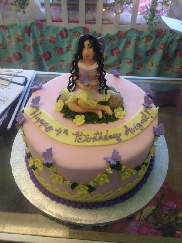 2000, 4th birthday, fourth birthday, figure, butterfly, butterflies, flower, flowers, fairy, fairies, pink, purple, yellow