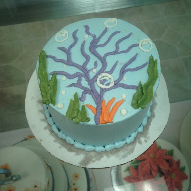 2006, 2nd birthday, second birthday, mermaid, ariel, disney, princess, the little mermaid, water, underwater, sea, ocean, fish, mermaids, blue, smash cake