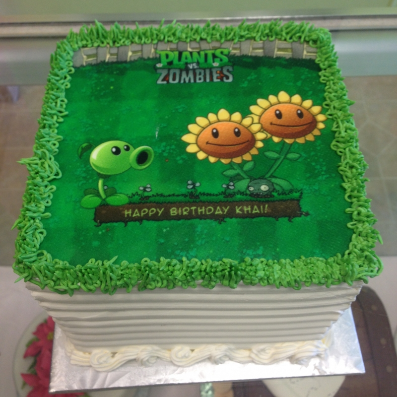2036, birthday, plants vs zombies, pvz, green, yellow, sunflower, edible image
