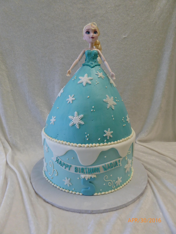 3004, 5th birthday, fifth birthday, barbie cake, barbie, elsa, frozen, disney, disney princess, princess, carved, tiered