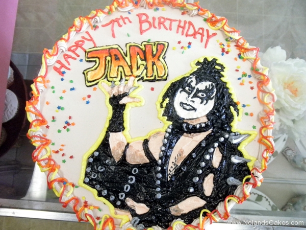2066, 7th birthday, seventh birthday, kiss, gene simmons, the demon, rock, music, black, orange
