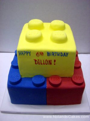 2082, 6th birthday, sixth birthday, lego, legos, red, yellow, blue, brick, tiered