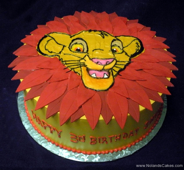 2109, 3rd birthday, third birthday, simba, the lion king, cub, leaf, leaves, red, yellow, orange