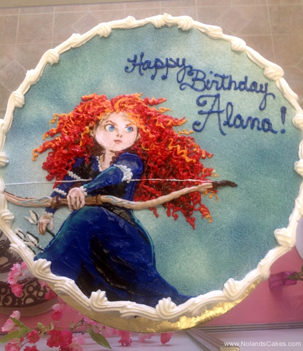 2136, birthday, brave, disney, princess, merida, blue, sky, bow, orange