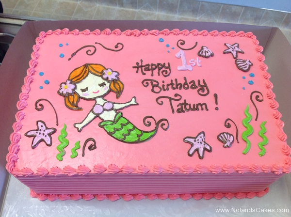 2138, first birthday, 1st birthday, mermaid, starfish, kelp, pink, green