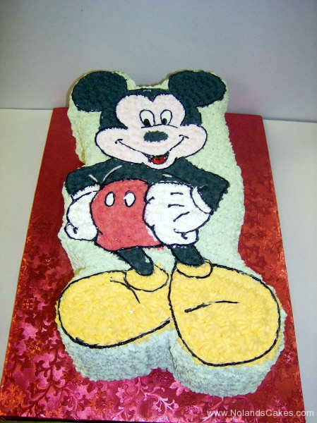 2152, birthday, mickey mouse, red, yellow, black, white, carved