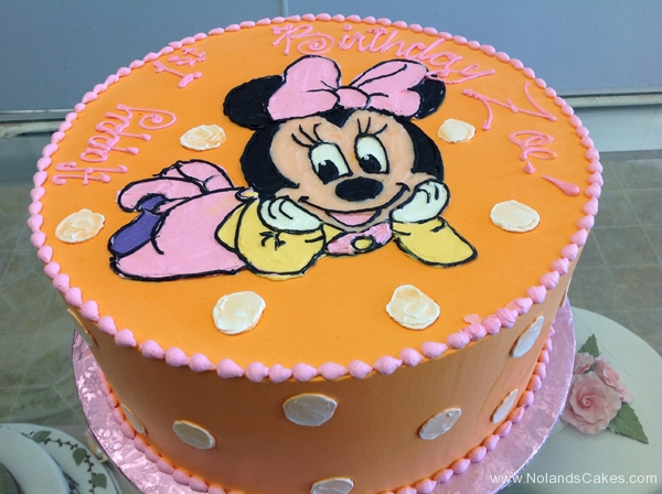 2163, first birthday, 1st birthday, minnie mouse, mickey mouse, dot, dots, orange, pink, ears, disney